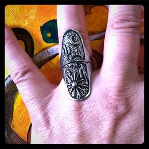 Jewelry - FLIP RING! Magick Moon and Sun Silvertoned